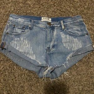 One Teaspon Bandits Jean Denim Shorts Size 28